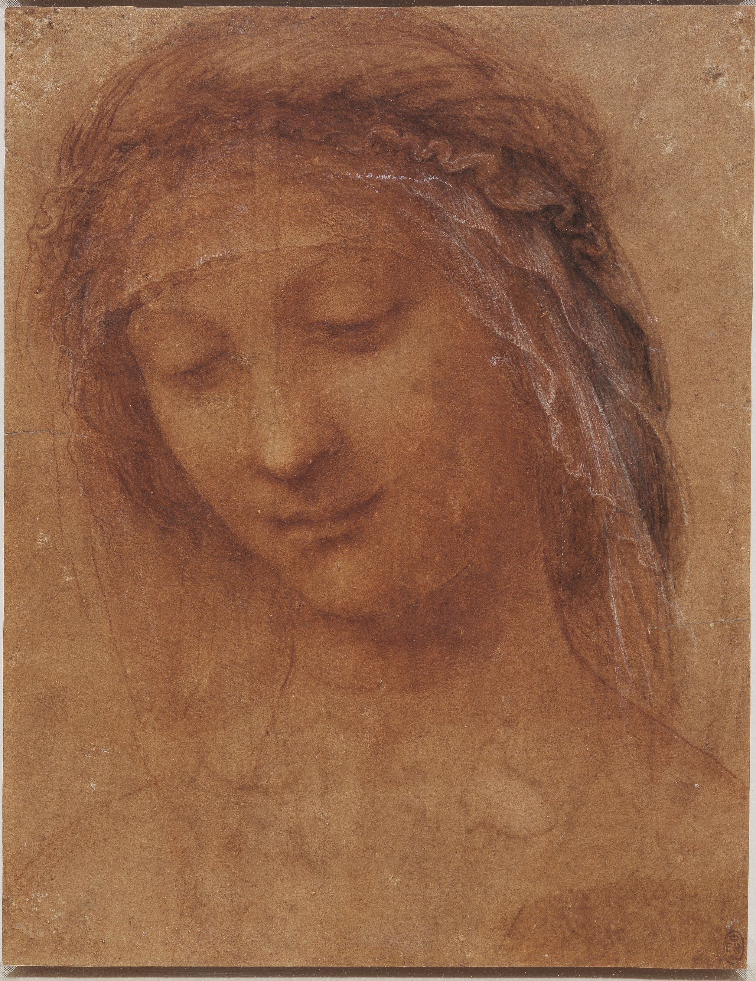 Leonardo-da-Vinci--The-head-of-the-Madonna-c.1510-15